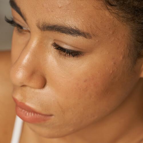 woman face close up