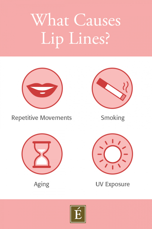 what causes lip lines infographic